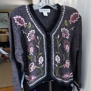 Embroidered & Beaded Cardigan